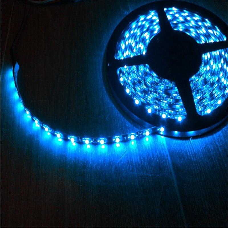 1 rollo tira de LED Flexible DC12V 300LED 5 M Flexible de luz LED 3528 SMD 1210 impermeable para el maletero de coche de la carrocería chasis de la atmósfera