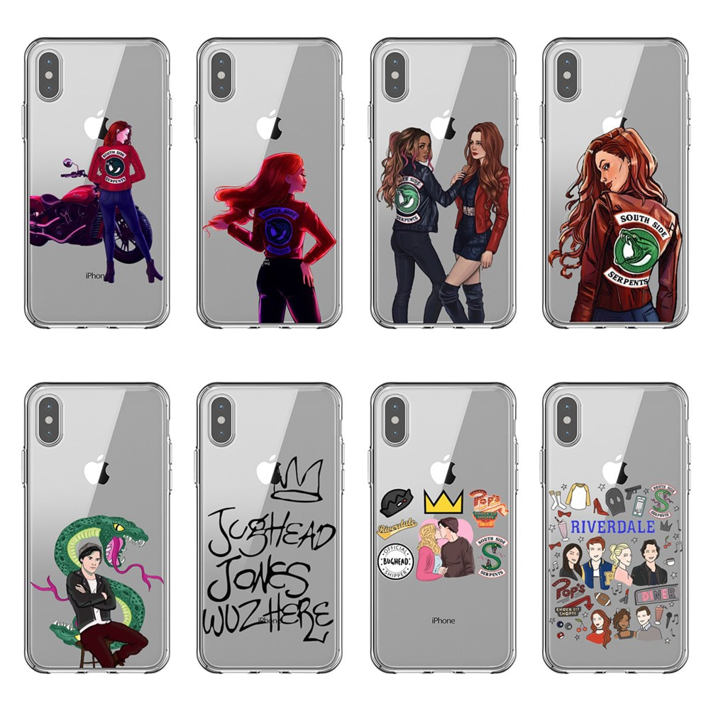 American TV Riverdale funda para teléfono para iPhone 5S iPhone 6 6S más 7 7 Plus 8 8 X XR XS MAX transparente coque de silicona suave cubierta