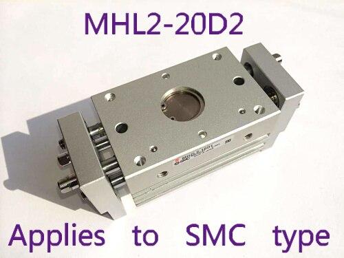 Tipo largo da garra do gás de MHL2-20D2 (abertura e fechamento paralelos) tipo cilindro da série de mhl smc