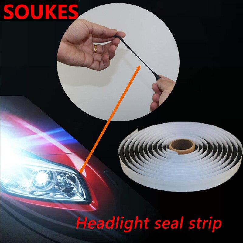 4m Car Headlight Sealant Reseal Hid Headlamps Strip For Volkswagen VW Polo Passat B5 B6 CC Golf 4 5 6 7 Touran T5 Tiguan Bora