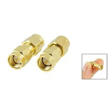 2015 Hot  5 pcs Gold Tone SMA Male to SMA Male Plug RF Coaxial Adapter Connector