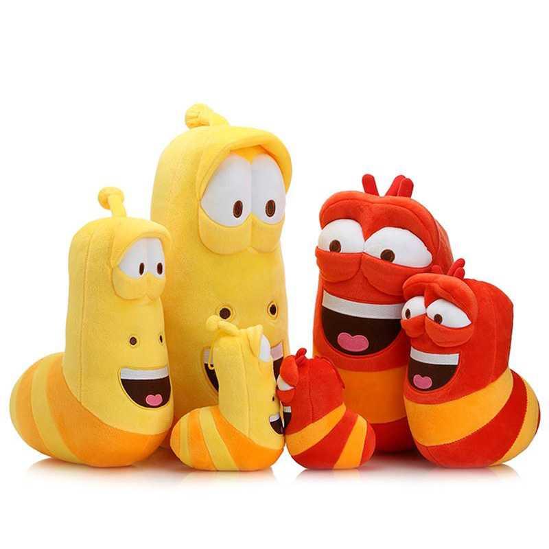 Original marque dessin animé larve jouets en peluche poupée pour enfants cadeau de noël anime fille chaude enfants bébé amusant jouets en peluche pour bébés