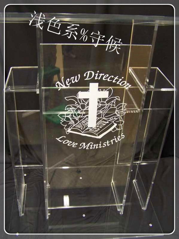 church acrylic podium/Popular transparent knockdown acrylic lectern for school podium