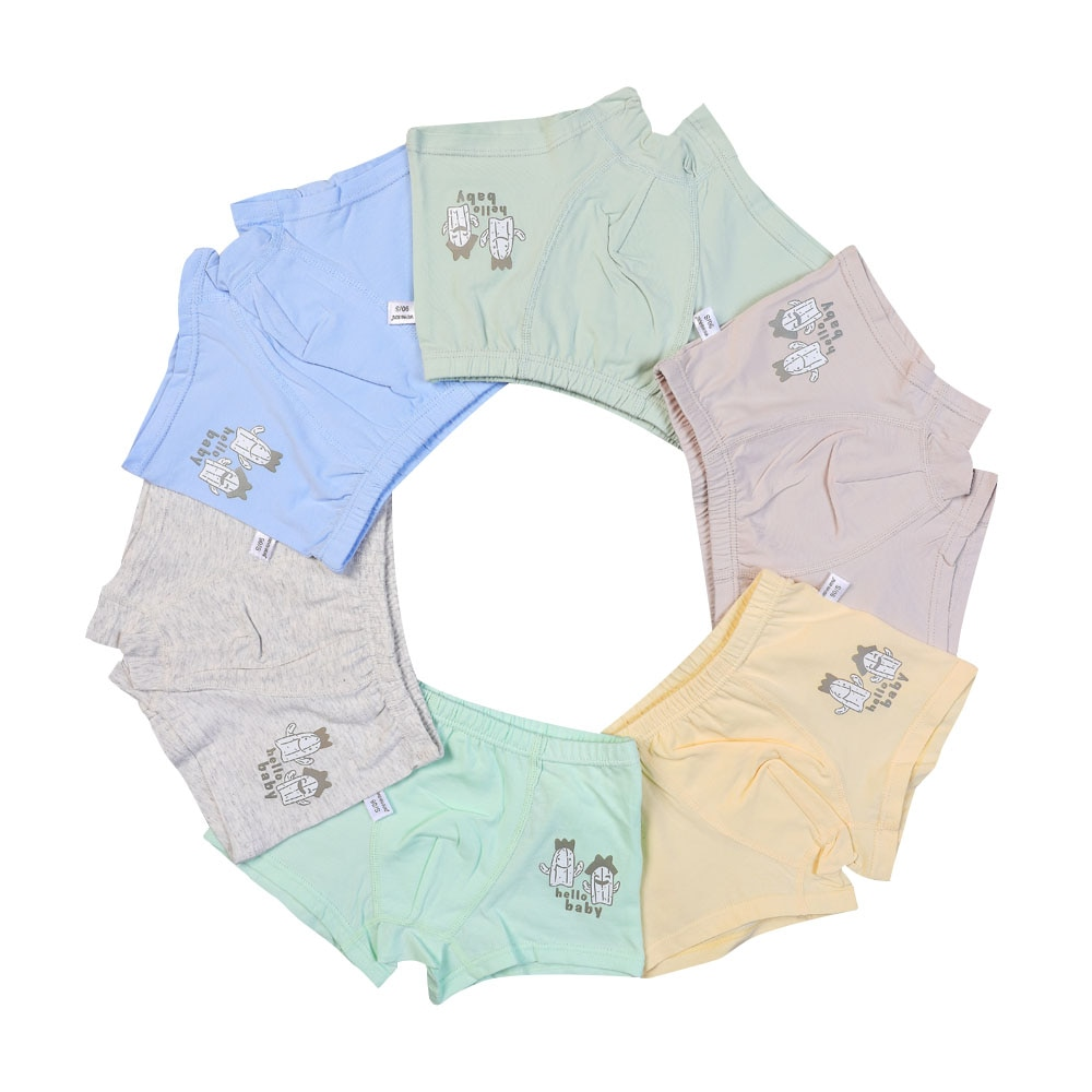 6 unids/lote de ropa interior para niños, calzoncillos de verano suaves transpirables para bebés, ropa interior para niños, calzoncillos para niños, 2-7 años