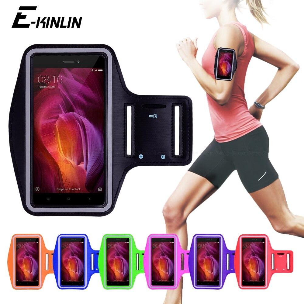 Running Gym ciclismo deporte entrenamiento bolsa cubierta para Xiaomi Redmi Note 4X 4 Global 4A 10X Prime S2 GO K30 K20 Pro 4G 5G brazo banda funda