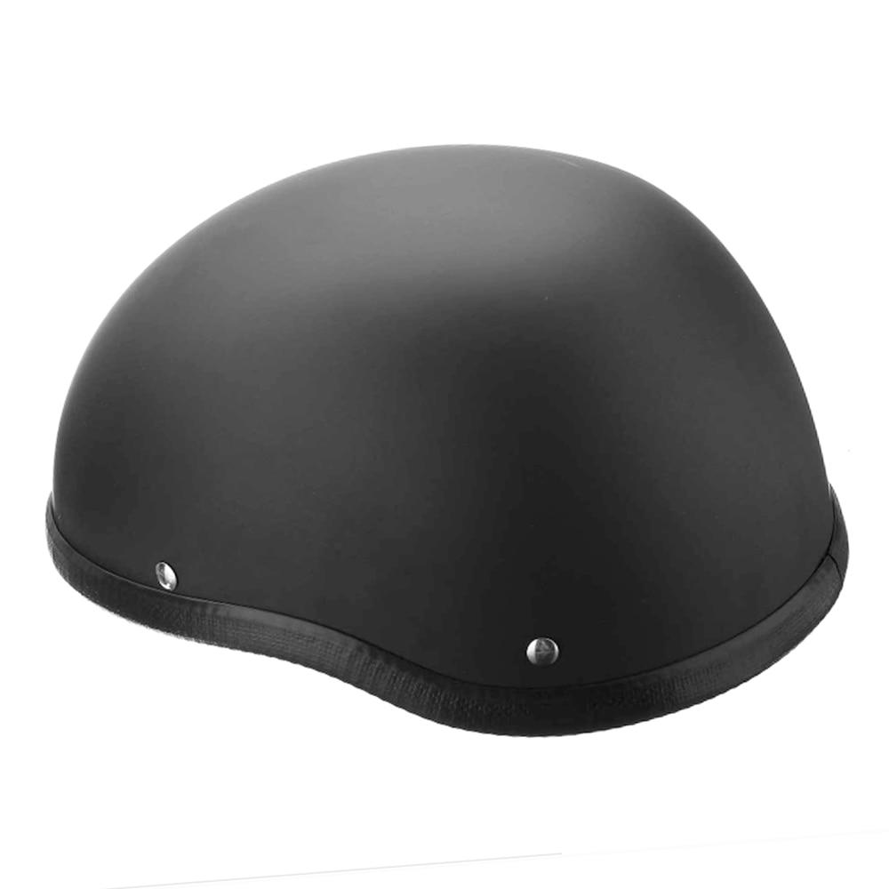 Capacetes de skate 57-62cm abs plástico motorcross capacete retro preto fosco meia capacete de segurança para mountain bike scooter dublê skate