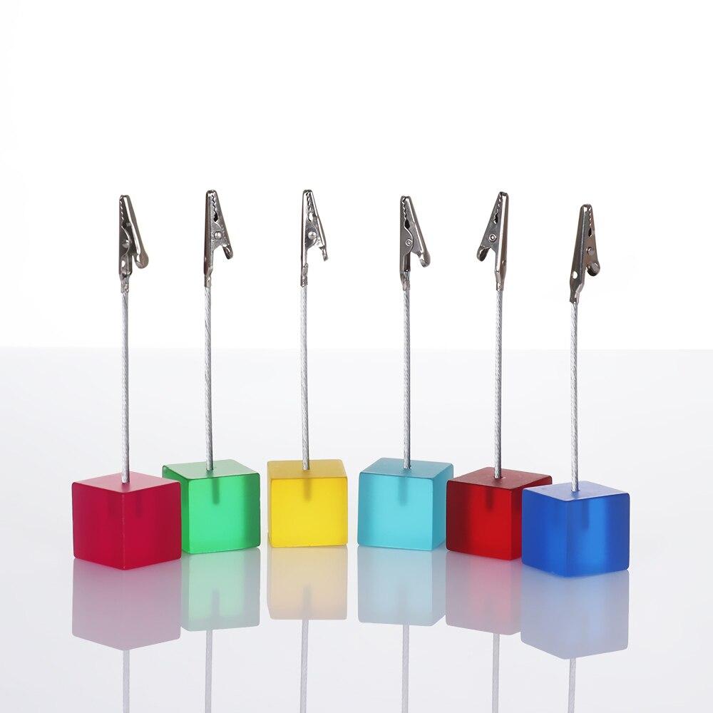 Многоцветная полимерная квадратная основа для фото заметок, клипса, карт, фотографий, заметок, фото, стол, цифровой зажим, держатель, украшение для рабочего стола