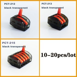 221 schwarz transparent draht stecker draht Verbindung Universal Kompakte verdrahtung power Stecker push-in Terminal Block