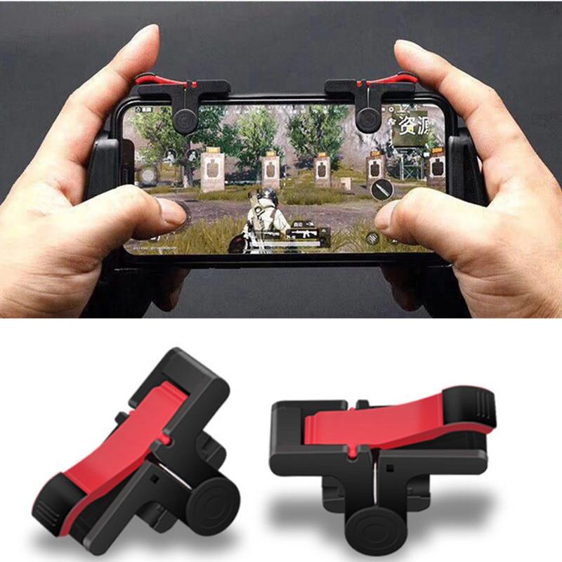Universal 2 pces pubg moible controlador gamepad livre fogo l1 r1 gatilho pugb móvel grip l1r1 gamepads para telefones inteligentes iphone