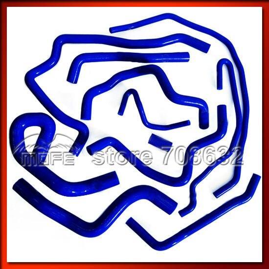 11 unids/set Original Logo calentador de refrigerante de silicona Kit de manguera de radiador para Ford Focus 2006 L/2.0L 2012-