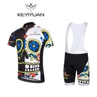 KEYIYUAN 2018 Cycling Sweatshirt Short Sleeve Summer Spring Mens Shirt Bike Racing Top Riding Clothing