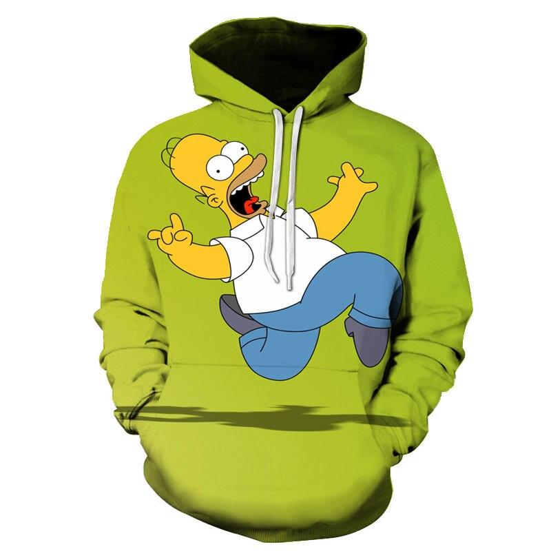 New Harajuku Cartoon anime The Simpsons hoodies men women sweatshirts printed 3d hooded pullover hooded casual streetwear