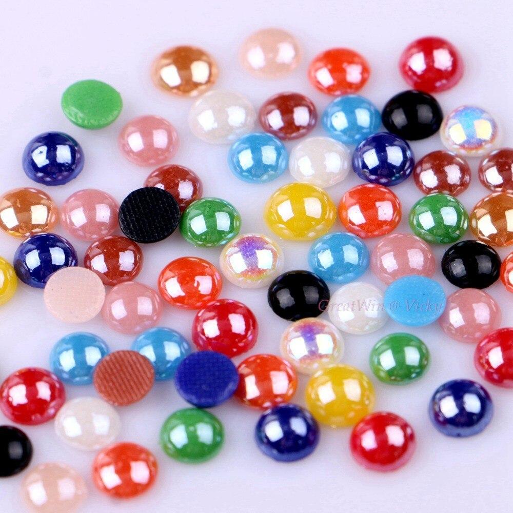 Diamantes de imitación de cerámica Hotfix de 5mm a 6mm, 11 colores a elegir, cristales de Domestuds de fijación en caliente DIY, piedras de hierro 300 unids/pack