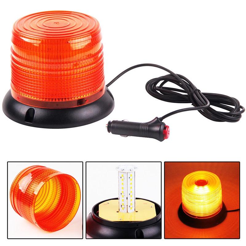 WTS ámbar LED COCHE flash de advertencia luces de señal vehículo policía LED intermitente faro estroboscópico lámpara de emergencia amarillo