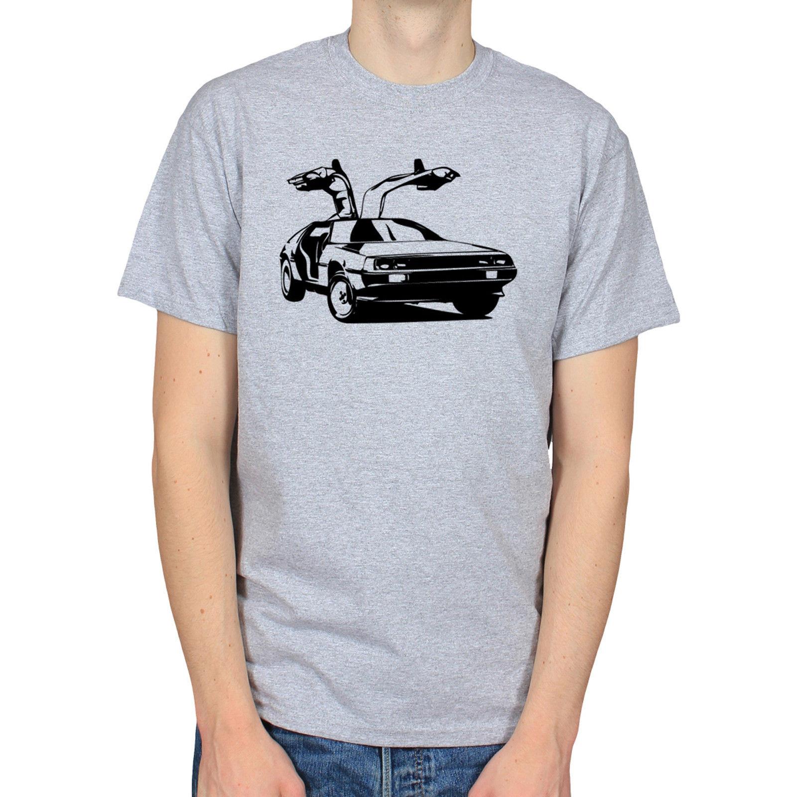 Filme de Volta para o Futuro Delorean 80s Carro Capacitor de Fluxo t-shirt Masculina Melhor Venda Camisas de T