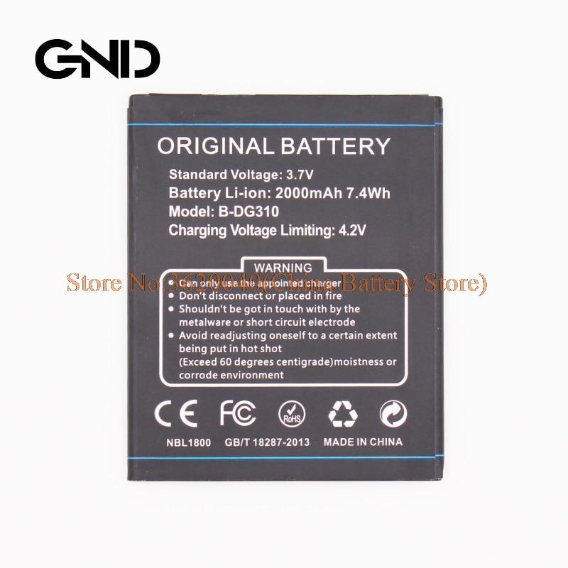 GND 3.7V 2500mAh B-DG310 Replacement Battery For DOOGEE Voyager 2 DG310 smartphone Li-ion bateria Li-Polymer Batterie