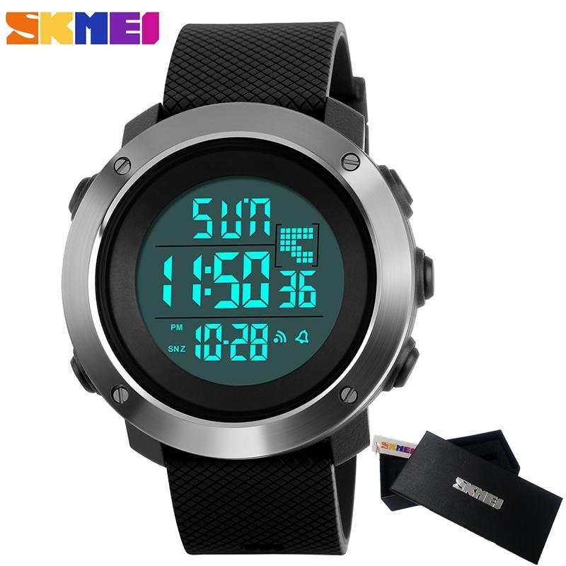2018 moda Skmei mujeres deportes Relojes hombres Digital LED reloj electrónico hombre impermeable militar reloj hombres reloj Masculino
