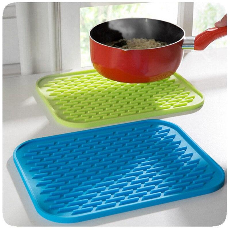 Gerichte Tasse Trockener Matte Rack Küche Sink Mat Silikon Topflappen Hitzebeständige Dosenöffner rutschfeste Matte Tisch tischset Untersetzer