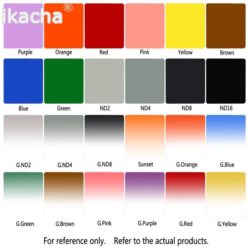 مجموعة كاملة من 24 قطعة لـ Cokin P Series ، عدسة ملونة متدرجة مربعة جديدة ، مرشح كاميرا لنيكون كانون Rebel SLR DSLR ، 24 قطعة