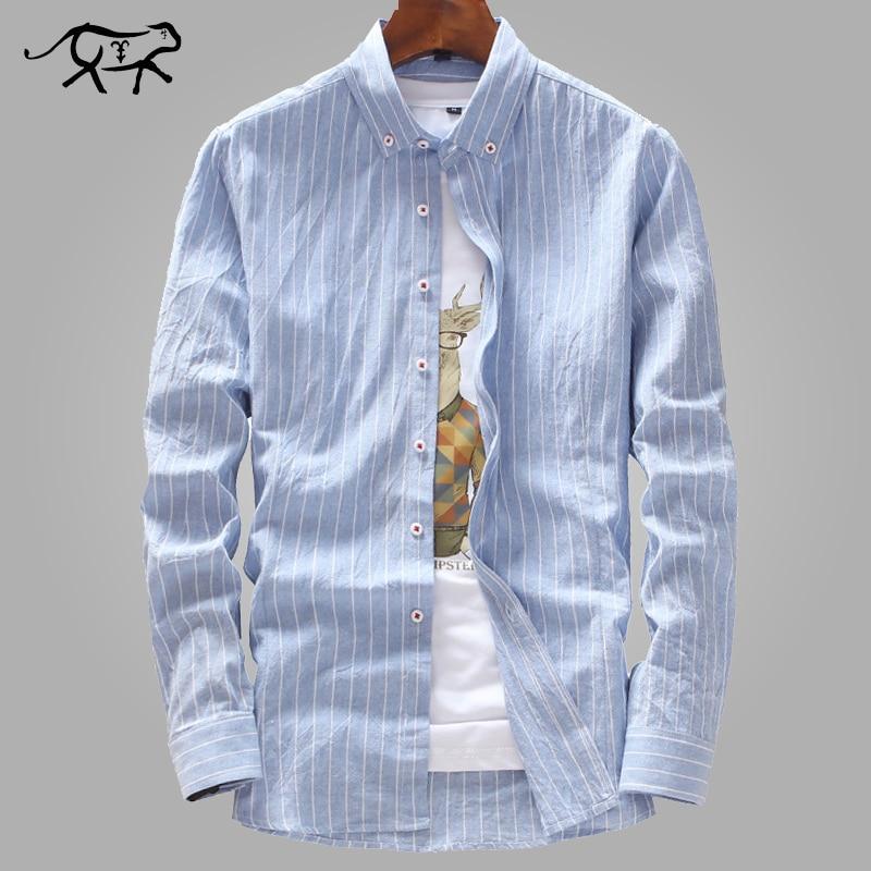 New Arrived Mens Work Shirts Brand Fashion Slim Fit Long Sleeve Striped /Twill Men Dress Shirts Casual White Male Shirts M-4XL