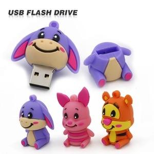 Usb флеш-накопитель 4 ГБ, 8 ГБ, 16 ГБ, 32 ГБ, флешка с милыми животными, u-диск, флешка с милым осликом, тиггером, карта памяти