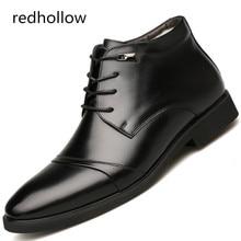 남자 캐주얼 신발 가죽 Autumen 겨울 봉 제 모피 따뜻한 플랫 신발 남자 패션 신발 야외 남자 신발 편안 하 게
