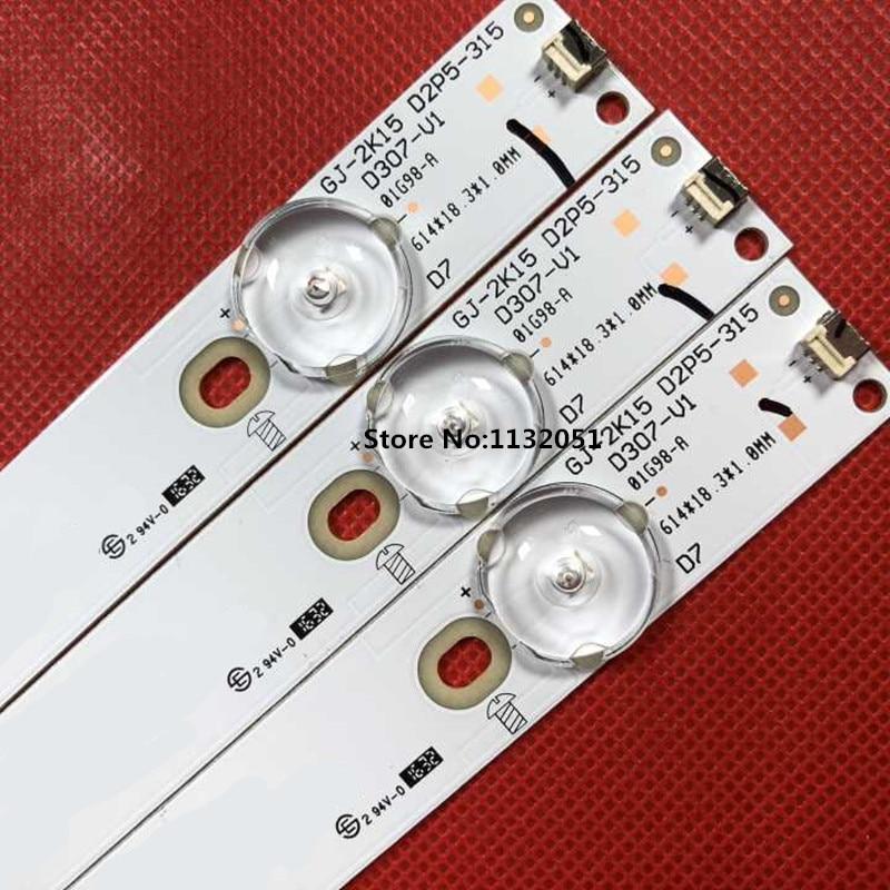 Tira de Luz D307-v1.1 para 32 para Philips Original Novo Stripsled Traseira Gj-2k15 D2p5-315 32phh4100 – 88 tv 3 Pçs Led