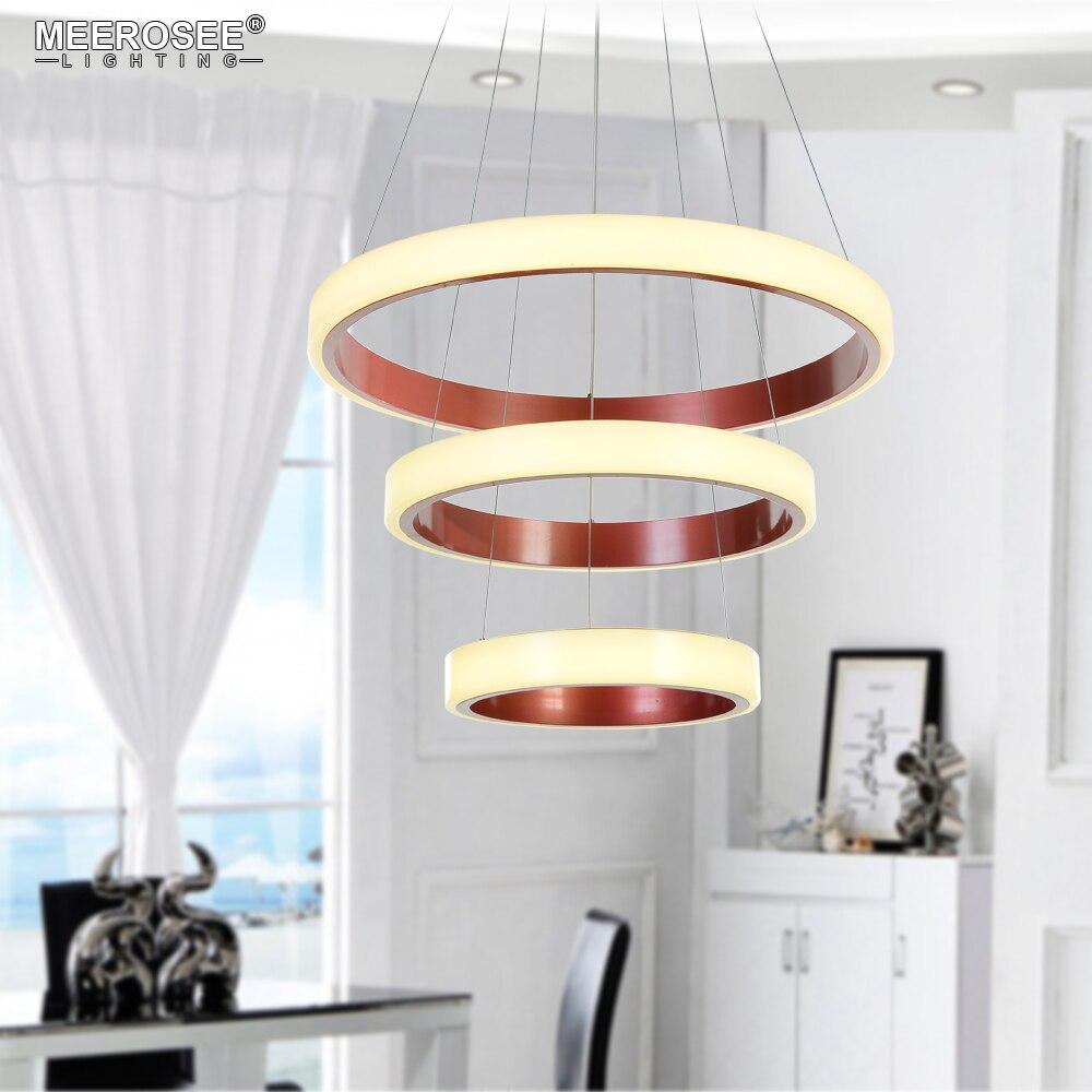 Lámpara Led Moderna con círculo redondo De acrílico Lampadari, lámpara De brillo...