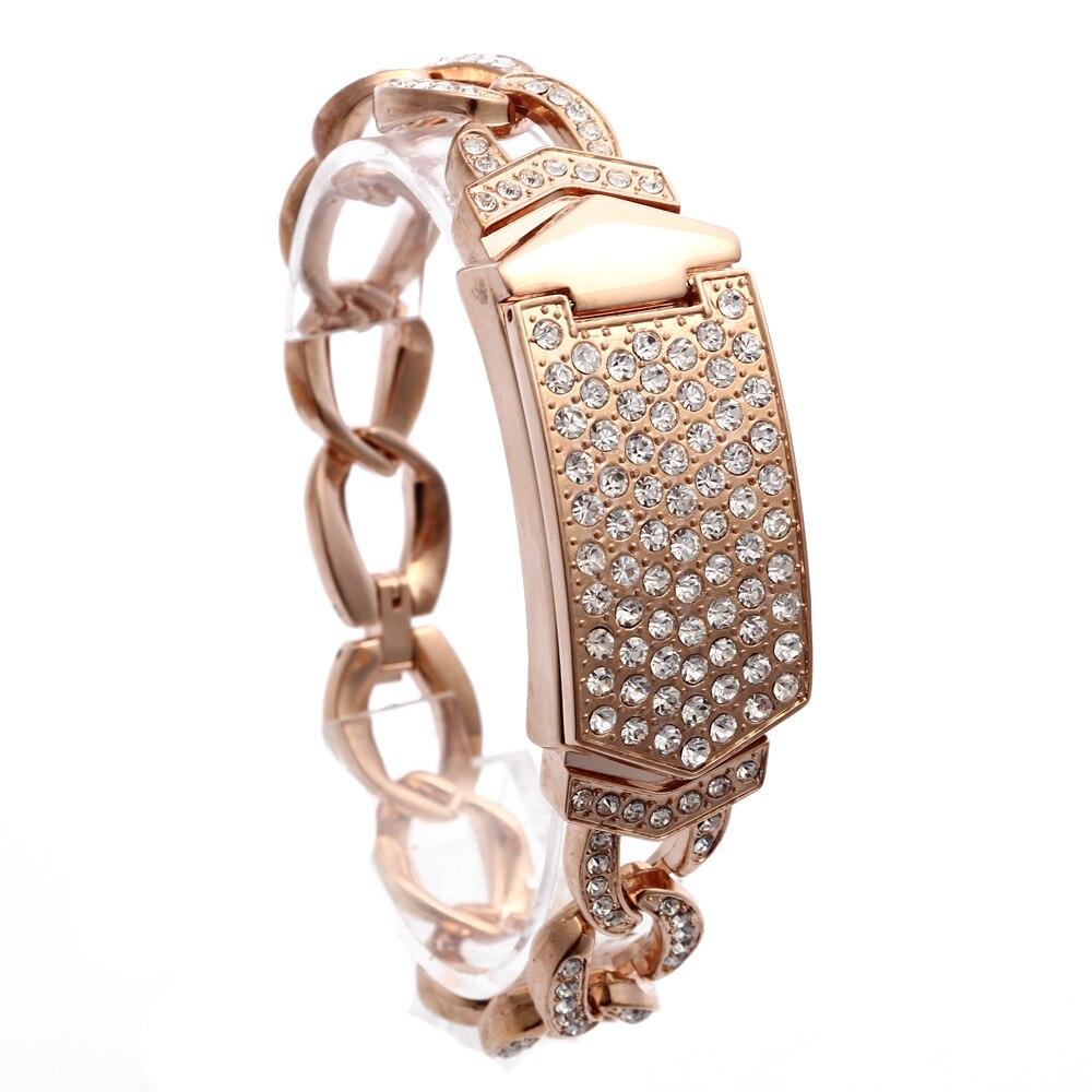 2020 New Luxury Women's Wrist Watch Stainless Steel Band Bracelet Rhinestone Analog Quartz Watch Rose Gold enlarge