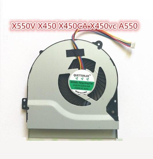 SSEA nouveau ventilateur CPU OEM pour ASUS F450C F450L F550C F550L X550V A550 X450 X450CA X450vc K550VC X550C ventilateur de refroidissement