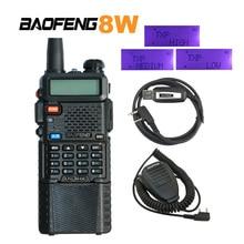 Baofeng UV-8HX 1/4/8Watt Poweful talkie-walkie bi-bande 136-174/400-520MHz Ham Radio bidirectionnelle UV 5R + micro-haut-parleur + câble de programme