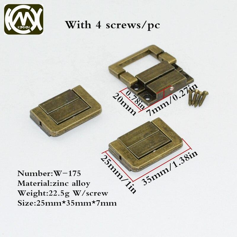 20 шт 25 мм * 35 мм продажа от производителя античный бронзовый замок для деревянного ящика сторожевой ящик замки для подарка деревообрабатывающее оборудование KIMXIN w-175