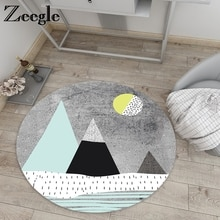 Zeegle-tapis pour chambre de bébé   Tapis rond antidérapant pour salon, tapis de sol pour chambre à coucher, tapis de chevet