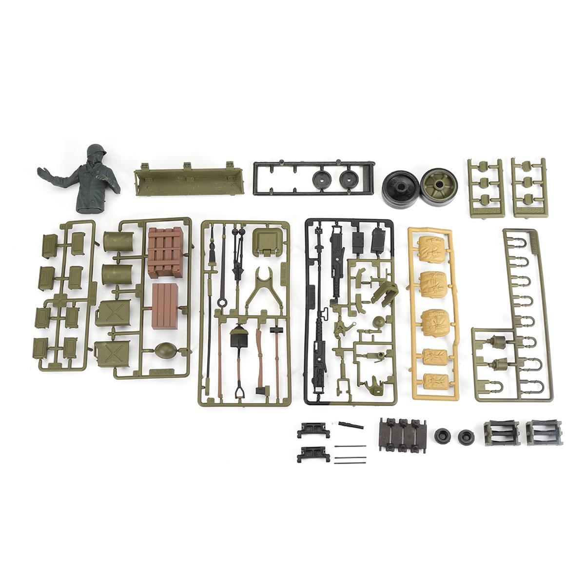 """1/16 בקנה מידה חלקי תיק פלסטיק אביזרי עבור HengLong M4A3 ארה""""ב שרמן 3898 חלק RC טנק דגם"""