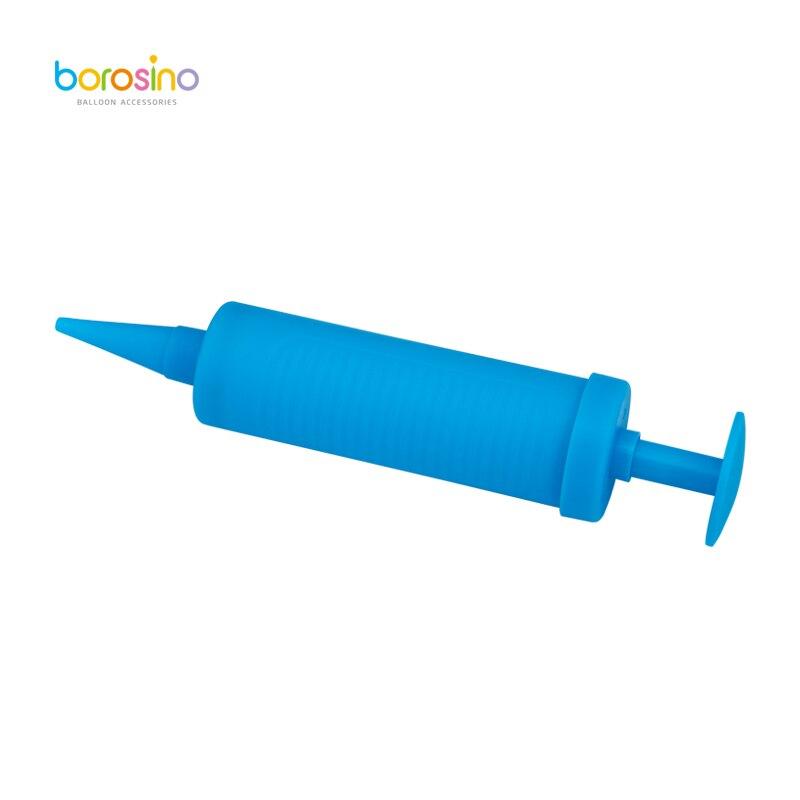 B101 10 unids/caja Mini Inflador de aire de mano, bomba de aire de globo de doble acción borosino