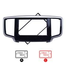 Cadre Double Din pour Honda Odyssey   2014 ~ 2017 GPS, Nav Fascias Auto DVD stéréo Payer panneau de tableau de bord,