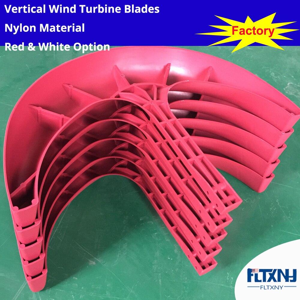 Gerador de turbina eólica blades red cor branca Nylon fibra de vidro da lâmina da lâmina lâminas de plástico para DIY gerador de turbina eólica