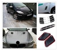 universal 2Pcs car modification simulation hood car network sticker for BMW EfficientDynamics 335d M1 M-Zero 545i 530xi