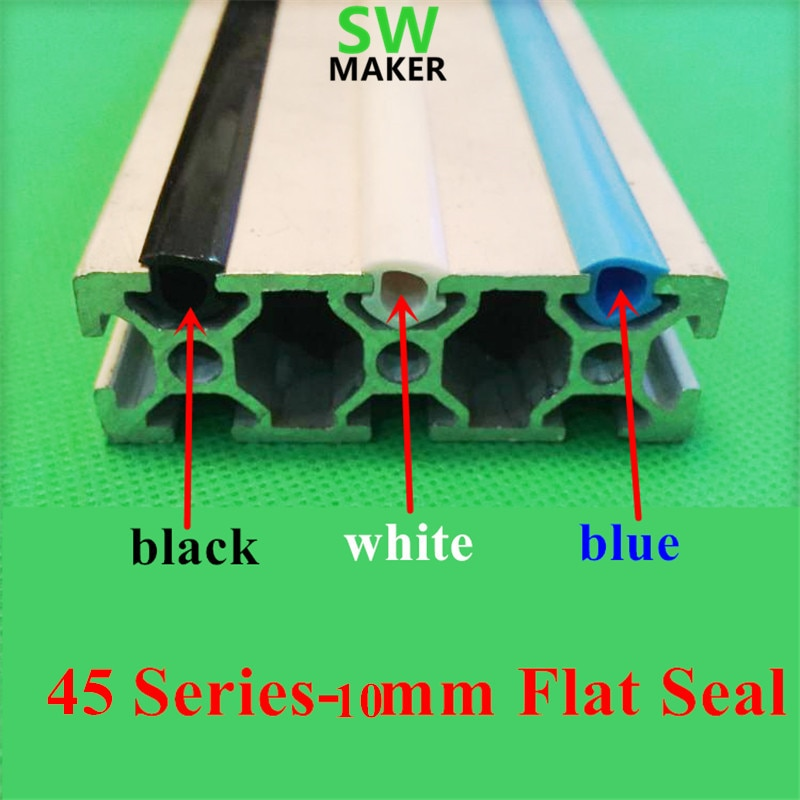 1 metro CNC c-beam máquina DIY piezas 45 series -10mm sello plano 4545 perfil de aluminio ranura cubierta/Panel titular negro/Blanco/azul