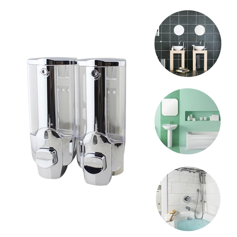 Dispensador de jabón líquido, dispensadores de champú con montaje en pared de plástico, botella de jabón de cocina, accesorios para baño, triangulación de envío