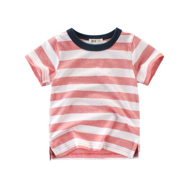 2018 New Summer Boys Tops Short Sleeve T-shirt Striped Cotton Children Boy Clothes T Shirt