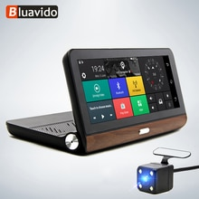 """Bluavido 8 """"4g android carro dvr câmera de navegação gps adas fhd 1080 p gravador de vídeo automático traço cam bluetooth wi fi monitor remoto"""