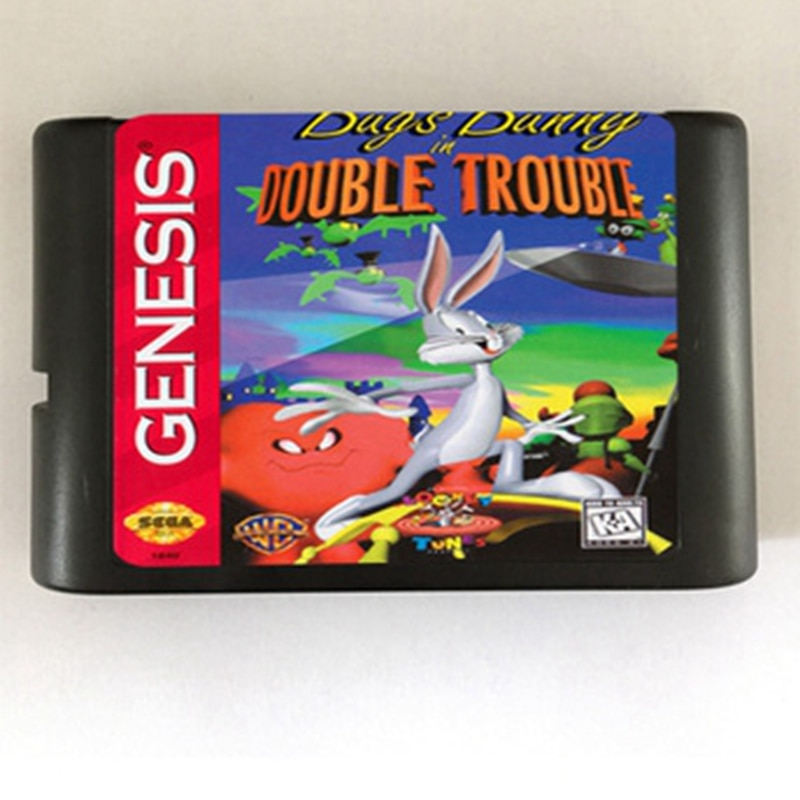 Bugs Bunny Double Trouble Game Cartridge Newest 16 bit Game Card For Sega Mega Drive / Genesis System