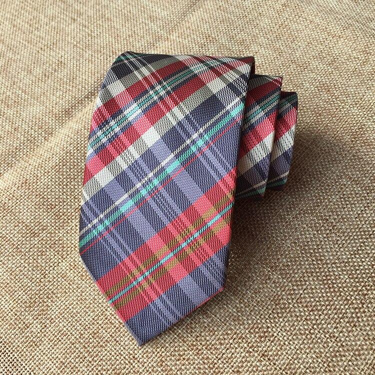 New Classic Checks Jacquard Woven Silk Men's Tie Necktie schneiders рюкзак walker chap classic petrol checks