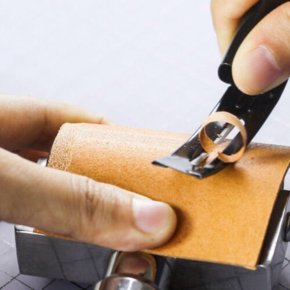 2 stücke Leder Ausdünnung Messer Peeling Werkzeug Hand Werkzeug Leder Spezialist Handwerk Werkzeuge Schneiden Rand Cutter Punch-Werkzeug