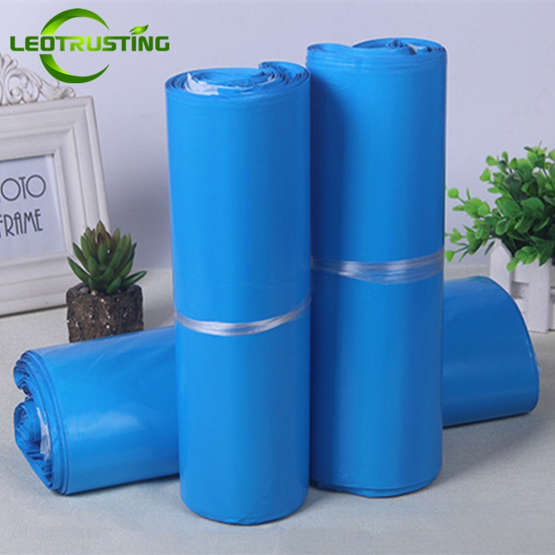 Leotrusting Blue Poly Mailer bolsas de sobres adhesivas Bolsa bolsas de correo de plástico azul ropa/cajas de embalaje Post bolsas