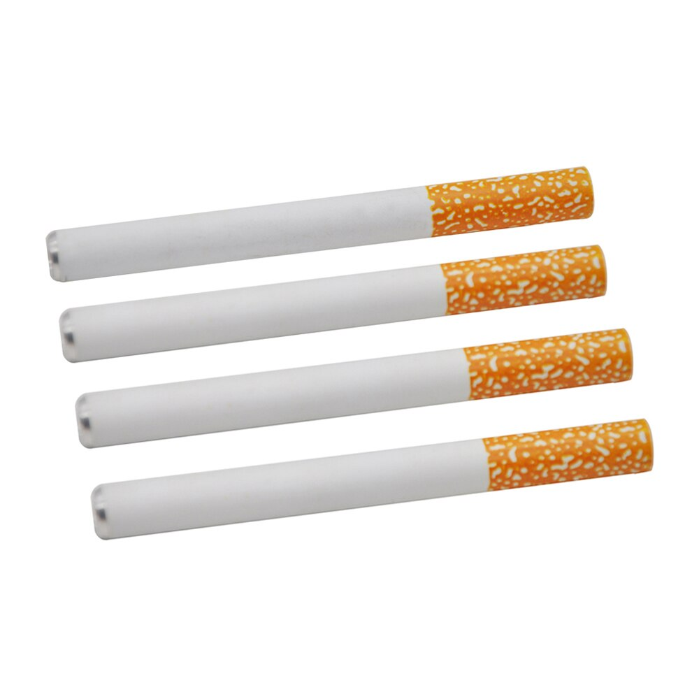 4 sztuk/partia 59MM/80MM/84MM papieros kształt ceramiczne akcesoria do palenia jeden Hitter sniff snorter