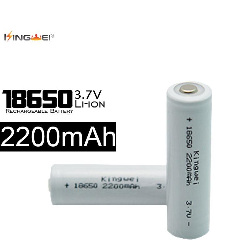 Kingwei 4 piezas ICR18650 recargable de litio de 3,7 V Li-Ion Mod contacto de la batería