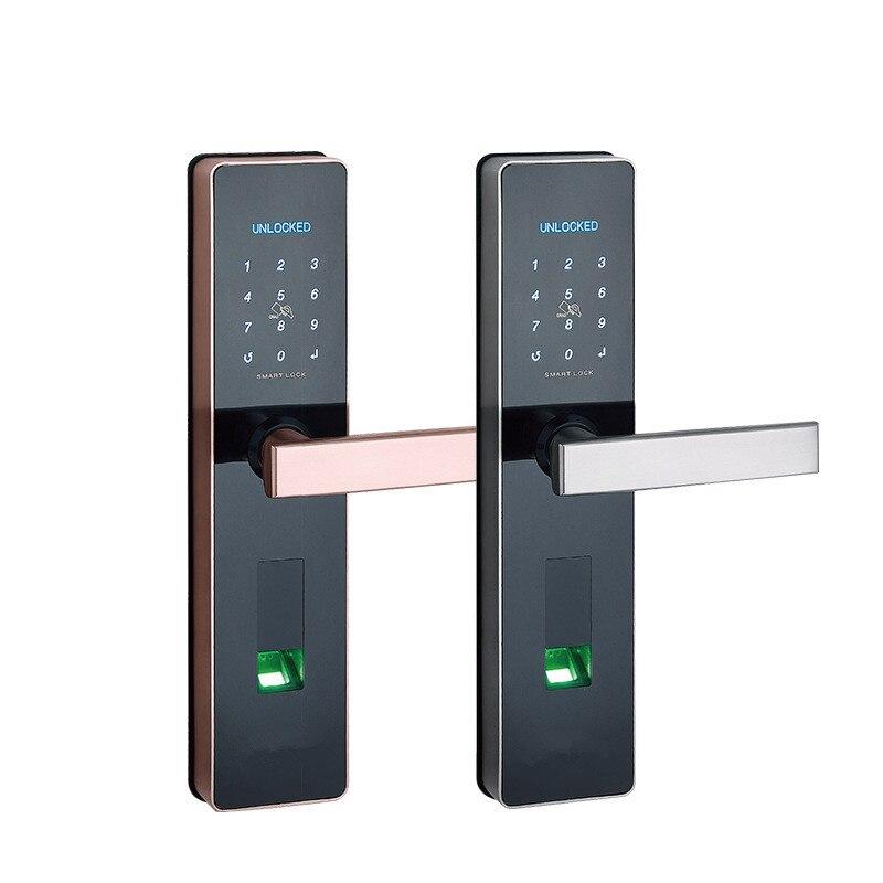 Cerradura biométrica para puerta con huella dactilar cerradura electrónica inteligente verificación de huellas dactilares con desbloqueo de contraseña