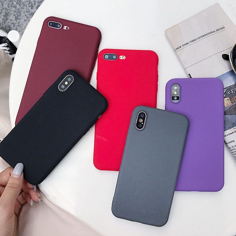 De silicona Funda de TPU mate teléfono Funda para Samsung Galaxy S10 S9 S8 Plus Lite de A6 A7 A8 A9 más J2 J4 J6 J8 Pro 2018 A750 volver Funda